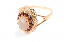 Opal and Rubies Ring